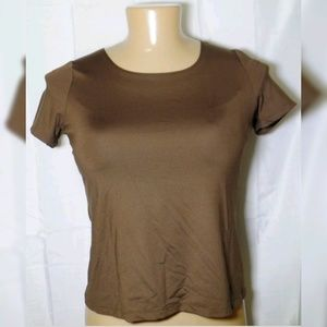 East 5th Womens Size Large Short Sleeves Blouse